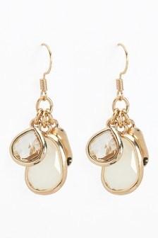 Bead Drop Cluster Earrings
