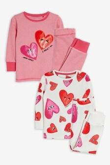 2 Pack Cotton Snuggle Pyjamas (9mths-12yrs)