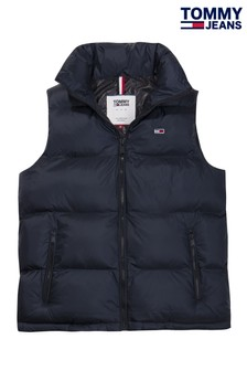 Tommy Jeans Blue Quilted Gilet