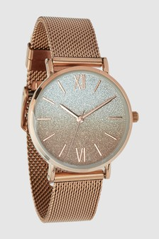 Mesh Shimmer Dial Watch