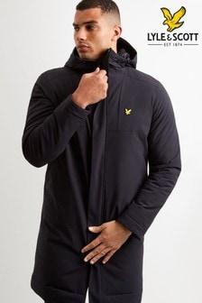 Lyle & Scott Sport Black Longline Coat
