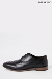 River Island Leather Lace-Up Brogue