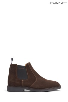 GANT Brown Spencer Lace-Up Suede Boot