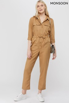 Monsoon Ladies Camel Attina Jumpsuit