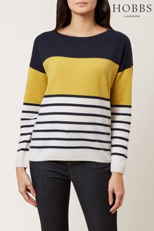 Hobbs Blue Sofia Striped Sweater