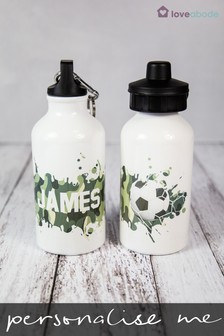 Personalised Football Drink Bottle by Loveabode