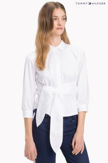 Tommy Hilfiger White Pames Cropped Shirt
