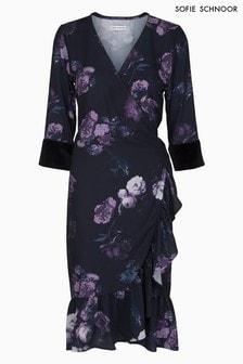 Kopertowa sukienka z nadrukiem kwiatowym Sofie Schnoor