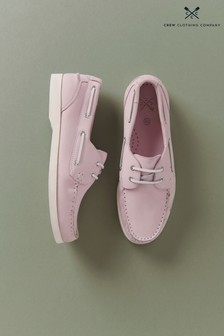 Crew Clothing Company Pink Deck Shoes