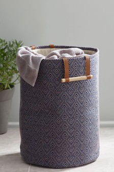 Woven Geo Laundry Bag