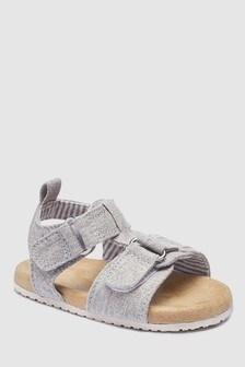 Sandales Pram grises à semelle en liège (Enfant)