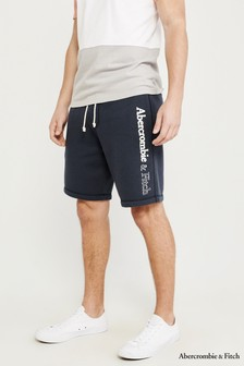 Abercrombie & Fitch Navy Short With Logo