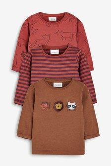 3 Pack Woodland Character T-Shirts (0mths-2yrs)