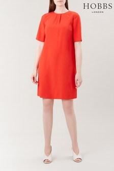 Hobbs Orange Carla Dress