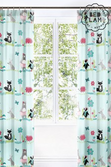 Woodland Fox Pencil Pleat Curtains by Bedlam
