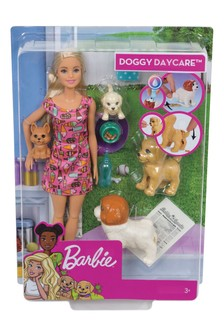 Barbie Doggy Daycare Doll And Pets Playset