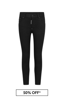 Dsquared2 Kids Boys Black Cotton Jeans