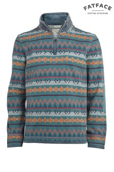 FatFace New Navy Airlie Aztec Print Sweat