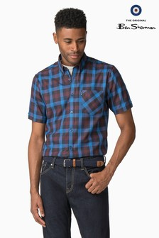 Ben Sherman Blue Multi Gingham Shirt