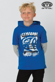 Animal Blue Fargo Hooded Long Sleeve T-Shirt