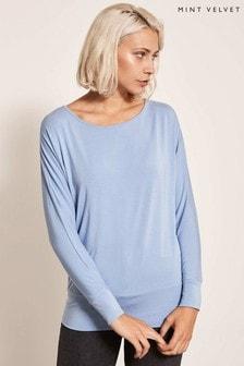 Mint Velvet Blue Modal Batwing Shirt