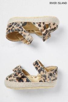 River Island Brown Leopard Sandals