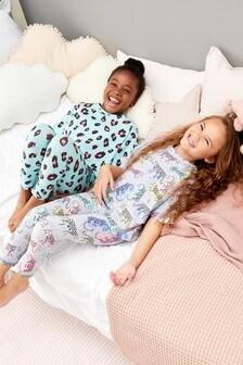 2 Pack Leopard Legging Pyjamas (3-16yrs)