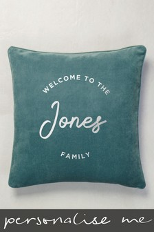 Personalised Soft Velour Cushion