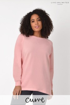 Live Unlimited Curve Washed Coral Sweatshirt