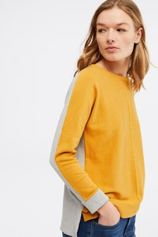 White Stuff Yellow Masterful Duet Jumper