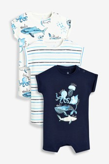 013062cd44bf Under The Sea Character Rompers Three Pack (0mths-2yrs)