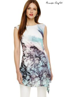 Phase Eight Multi Quinby Tree Scene Print Pleat Tunic