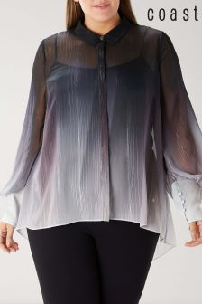 Coast Blue Curve Caris Ombre Blouse