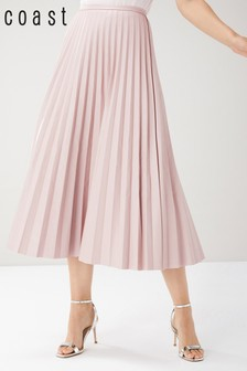 Coast Pink Emma PU Skirt