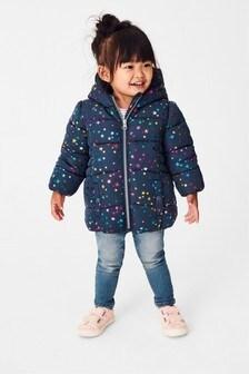 Podložena jakna s potiskom zvezd (3 mesecev–7 let)