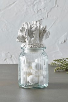 Coral Glass Jar