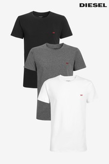 Diesel® White/Black/Grey T-Shirt Three Pack