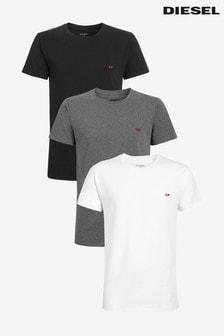 Diesel® White/Black/Grey T-Shirt Three Pack