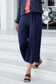 Трикотажная юбка-брюки