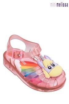 Mini Melissa Pink Possession Unicorn Sandal