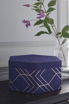 Velour Hexagon Storage Box