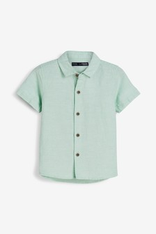 Short Sleeved Linen Blend Shirt (3mths-7yrs)