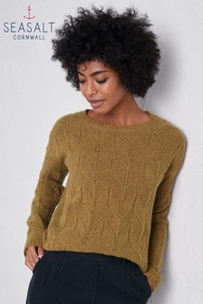 סוודר של Seasalt דגם Villanelle בירוק