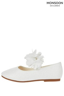 Monsoon Baby Ivory Dora Corsage Walker