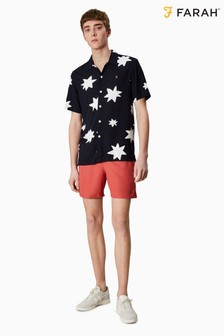 Farah Blue Colbert Plain Swim Trunk