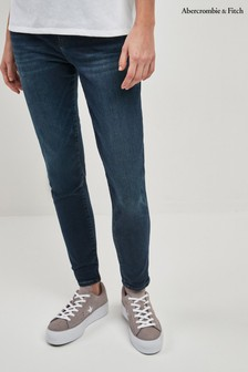Abercrombie & Fitch Dark Wash High Rise Jean