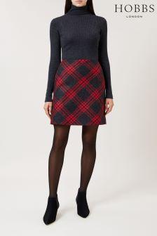 Hobbs Red Charcoal Elea Skirt