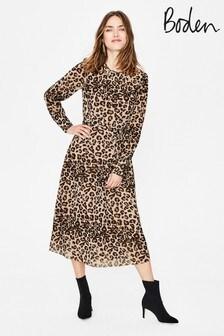 שמלת מידי של Boden מדגם Alba בצבע ברונזה