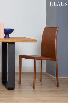 Byron Pair Of Leather Dining Chairs By HEAL'S