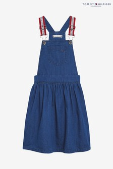 Tommy Hilfiger Girls Denim Pinafore Dress